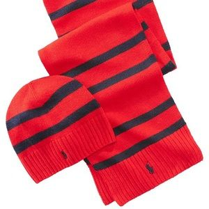 POLO RALPH LAUREN Hat & Scarf Set - wool blend